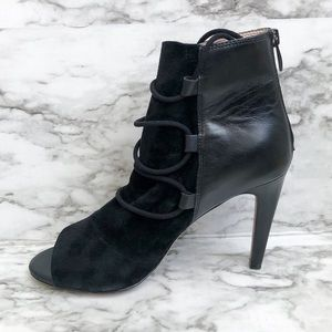 French Connection Quintana Black Lace-Up Booties
